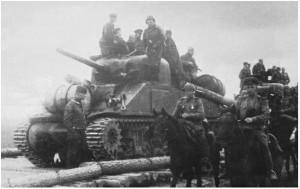 Sovietams tiekti M4 Sherman tankai, kurių buvo jiems perduota virš 4.000 vnt. Oficiali Raudonajai armija skirtų Šermanų nomenklatūra – M4A2.